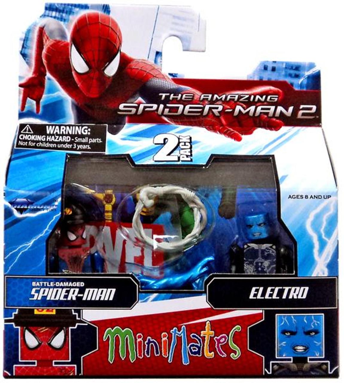 The Amazing Spider-Man 2 Minimates Series 56 Battle-Damaged Spider-Man & Electro Minifigure 2-Pack