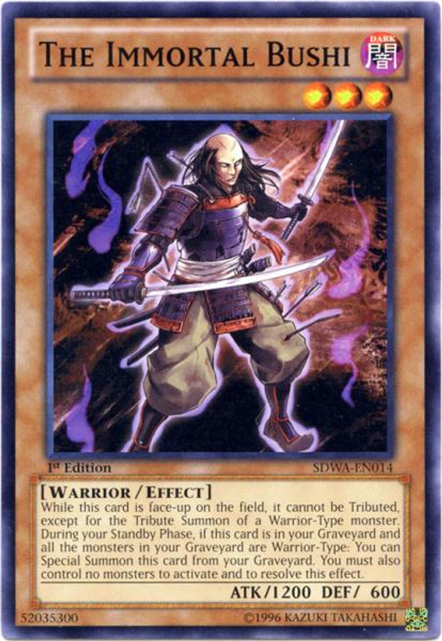 YuGiOh Zexal Samurai Warlords Structure Deck Common The Immortal Bushi SDWA-EN014