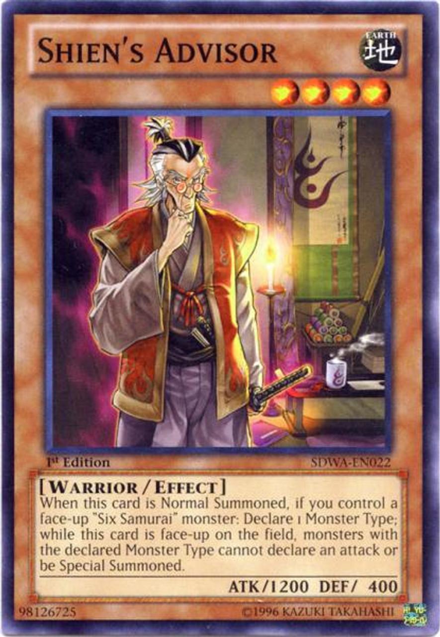 YuGiOh Zexal Samurai Warlords Structure Deck Common Shien's Advisor SDWA-EN022