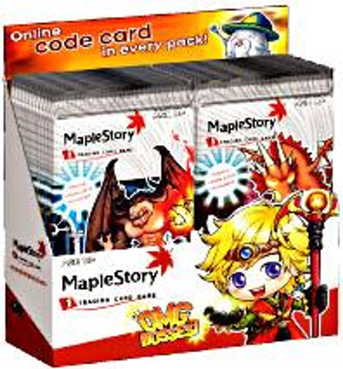 Maple Story Trading Card Game OMG Bosses Booster Box [24 Packs]