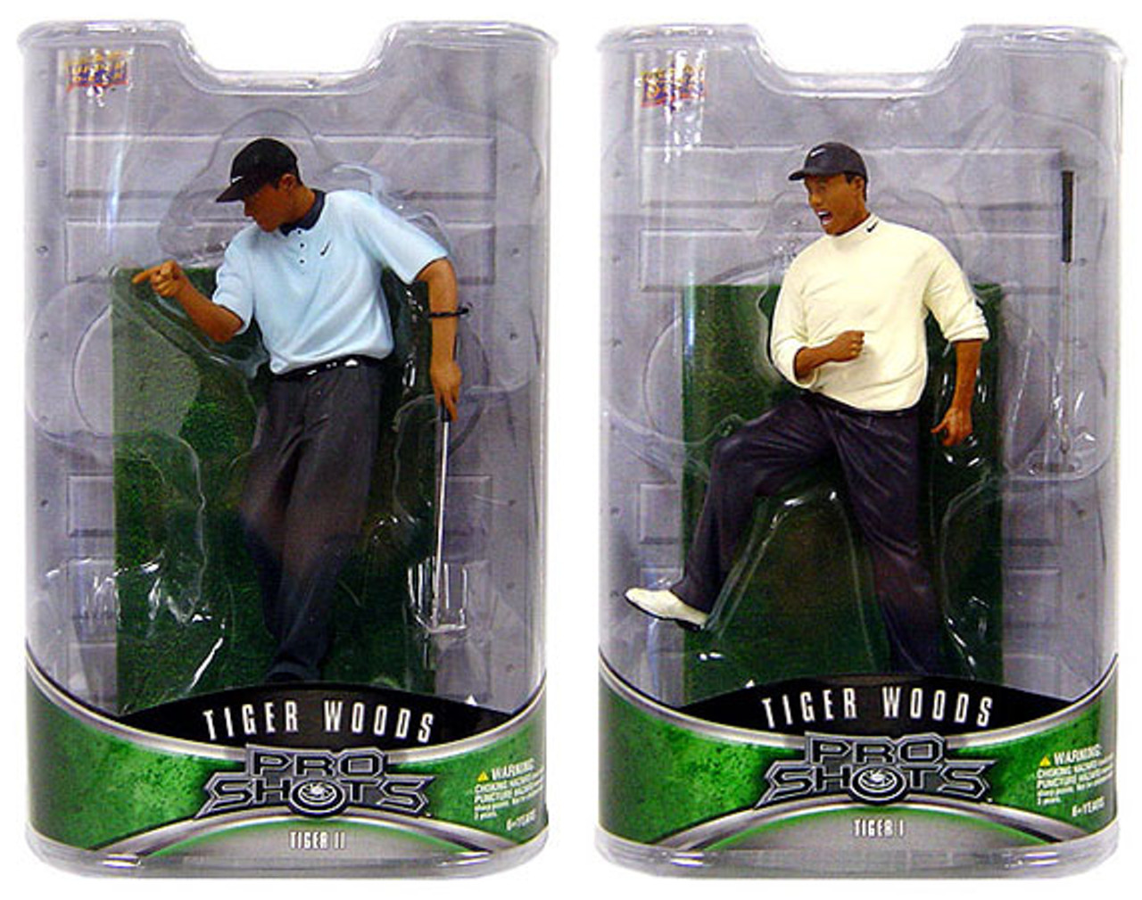 PGA Pro Shots Series 1 Set of 2 Tiger Woods Action Figures