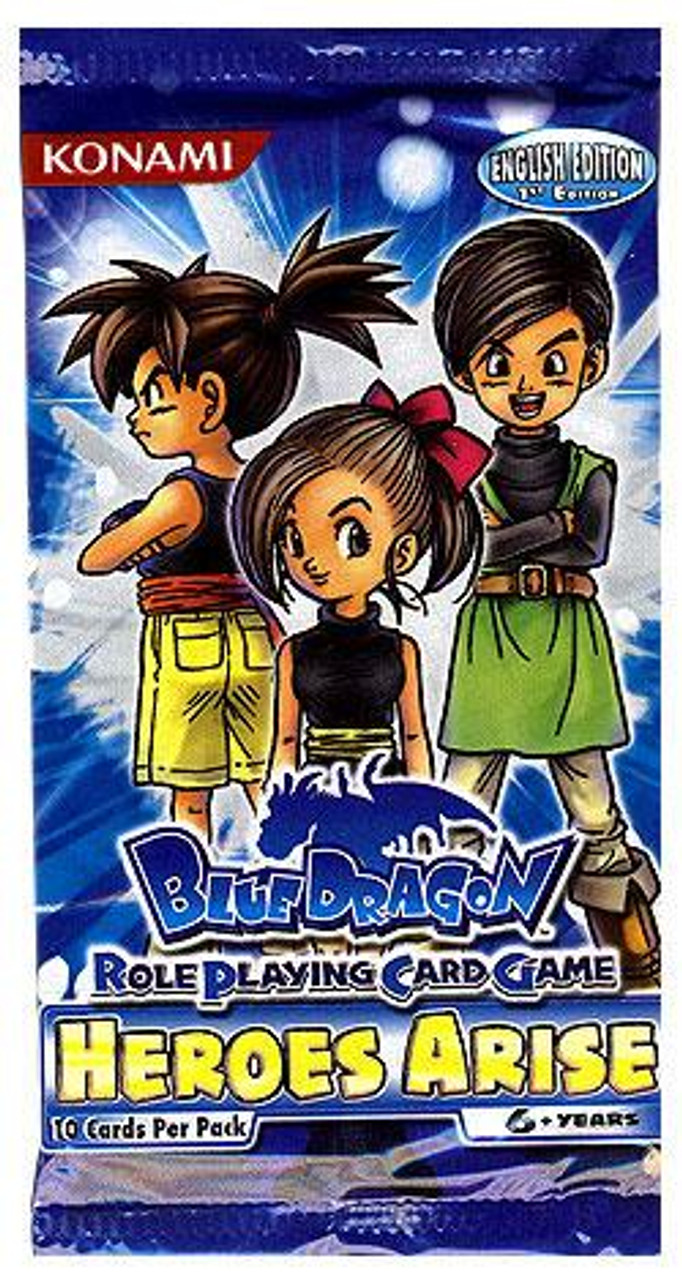Blue Dragon Roleplaying Card Game Heroes Arise Booster Pack