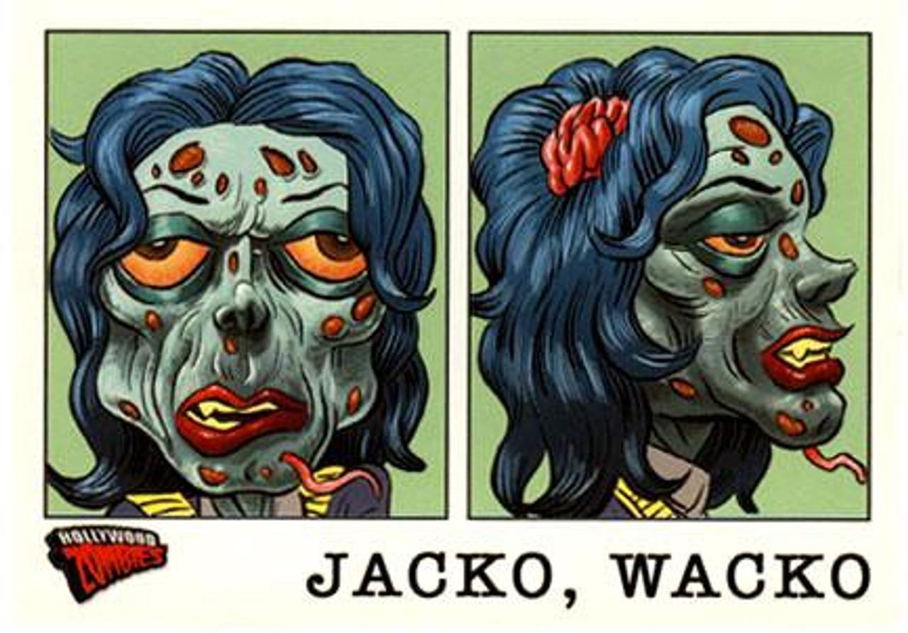 Hollywood Zombies Michael Jackson Jacko, Wacko Trading Card