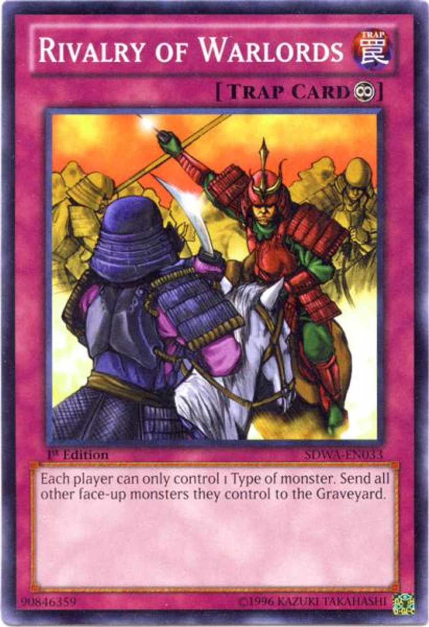 YuGiOh Zexal Samurai Warlords Structure Deck Common Rivalry of Warlords SDWA-EN033