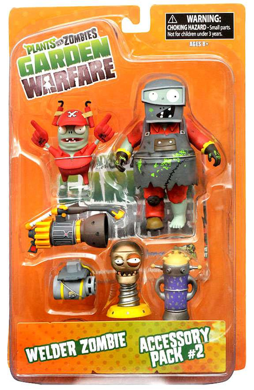 Plants Vs Zombies Garden Warfare Series 2 Welder Zombie Accessory Pack 2 5 Action Figure 2 Pack