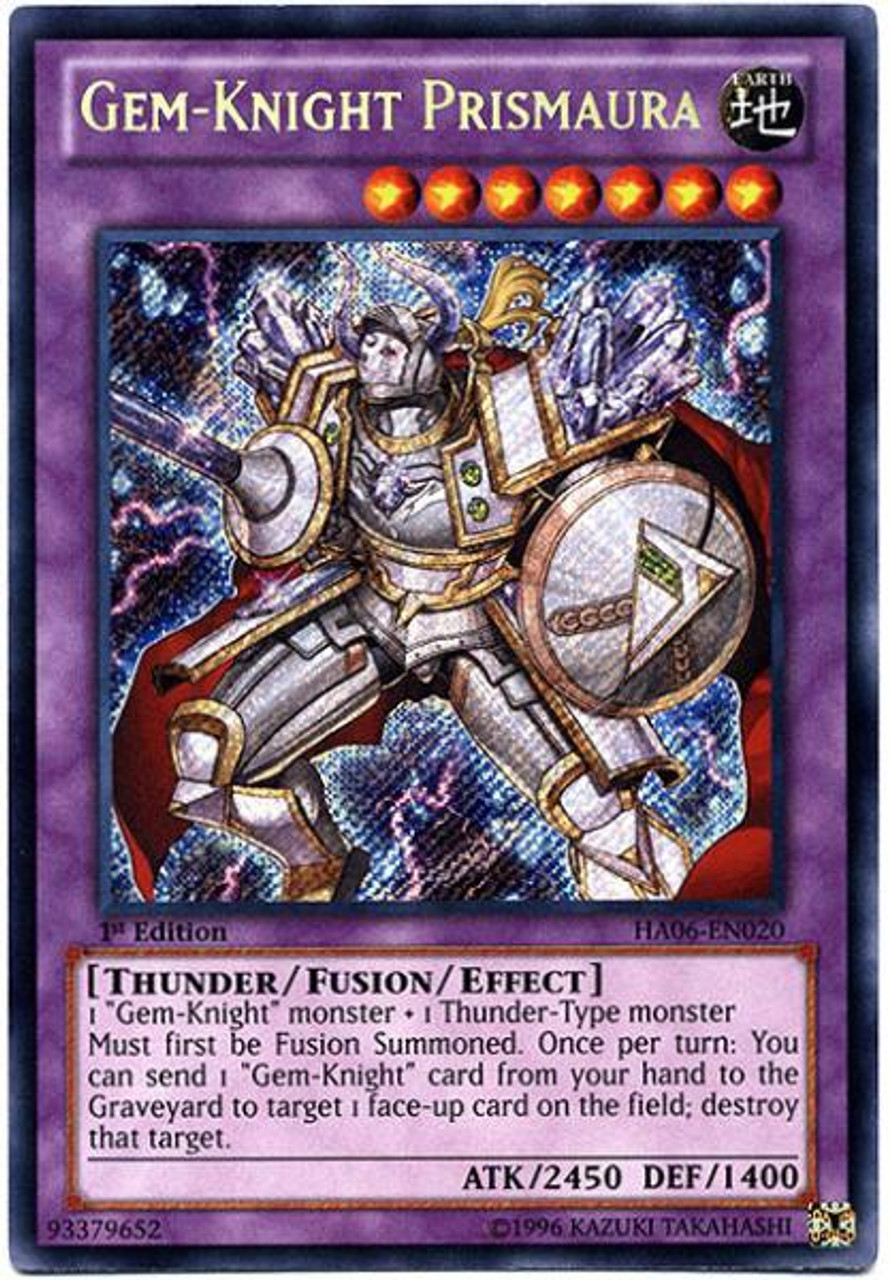 YuGiOh Zexal Hidden Arsenal 6: Omega XYZ Secret Rare Gem-Knight Prismaura HA06-EN020