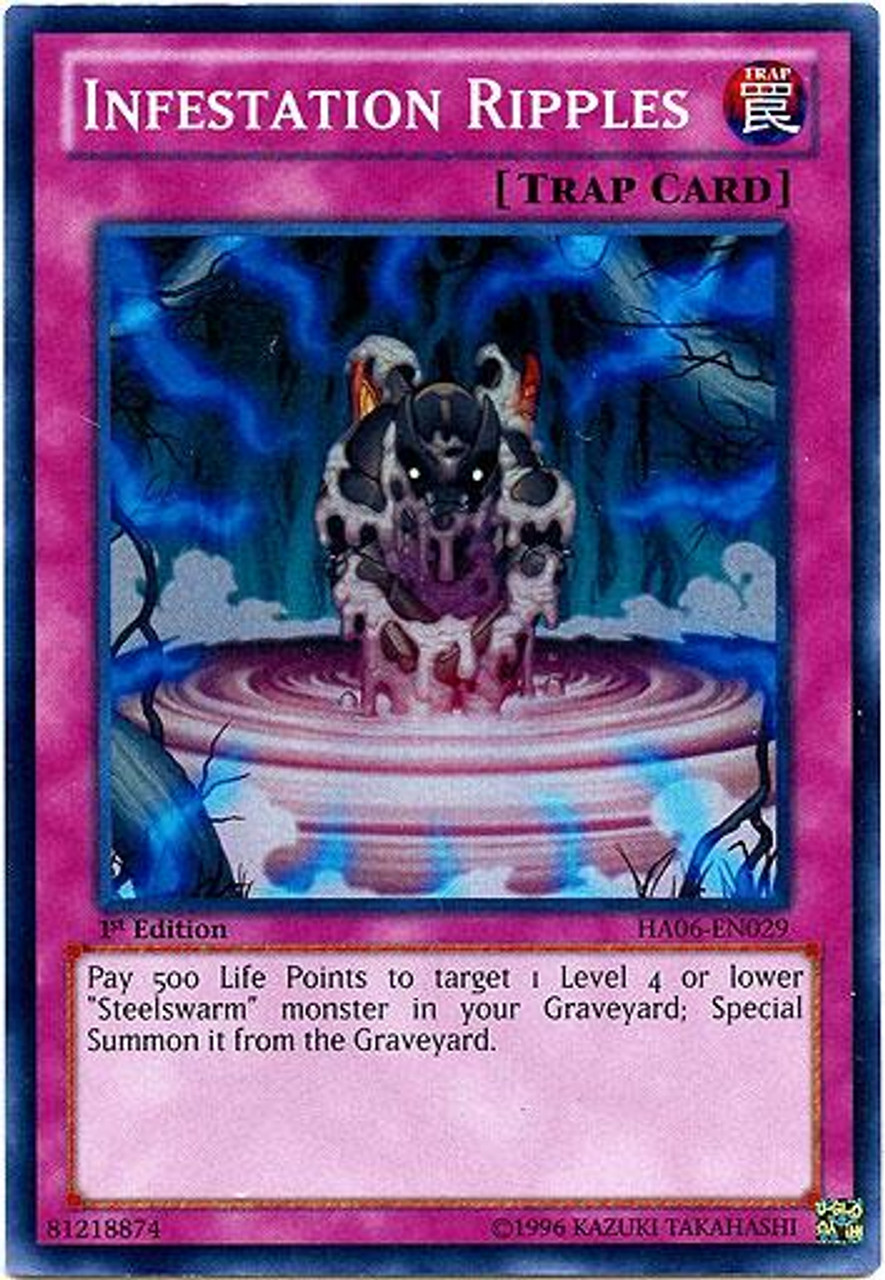 YuGiOh Zexal Hidden Arsenal 6: Omega XYZ Super Rare Infestation Ripples HA06-EN029