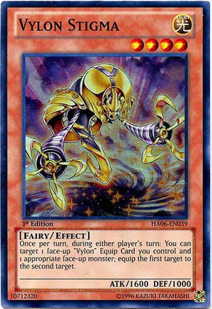 YuGiOh Zexal Hidden Arsenal 6: Omega XYZ Super Rare Vylon Stigma HA06-EN039