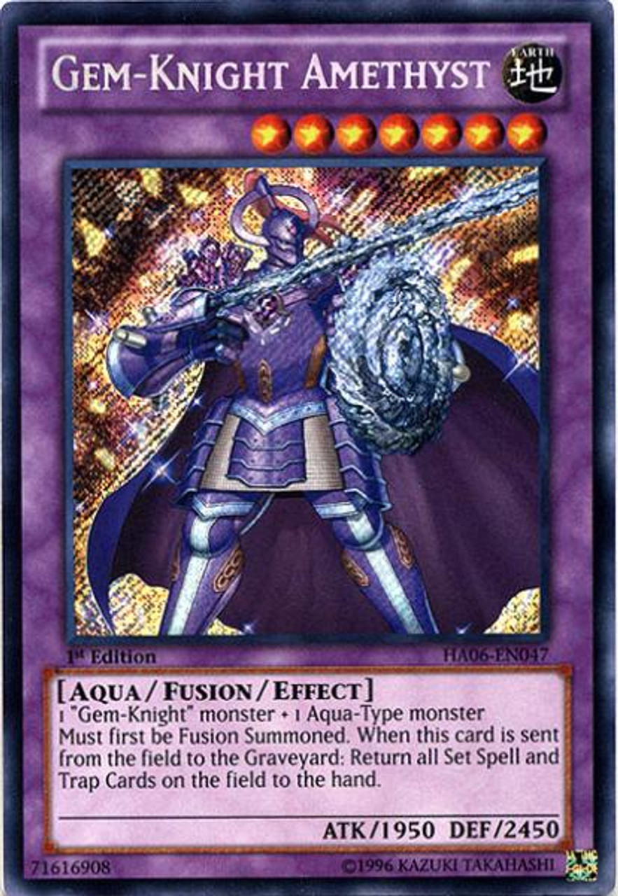 YuGiOh Zexal Hidden Arsenal 6: Omega XYZ Secret Rare Gem-Knight Amethyst HA06-EN047
