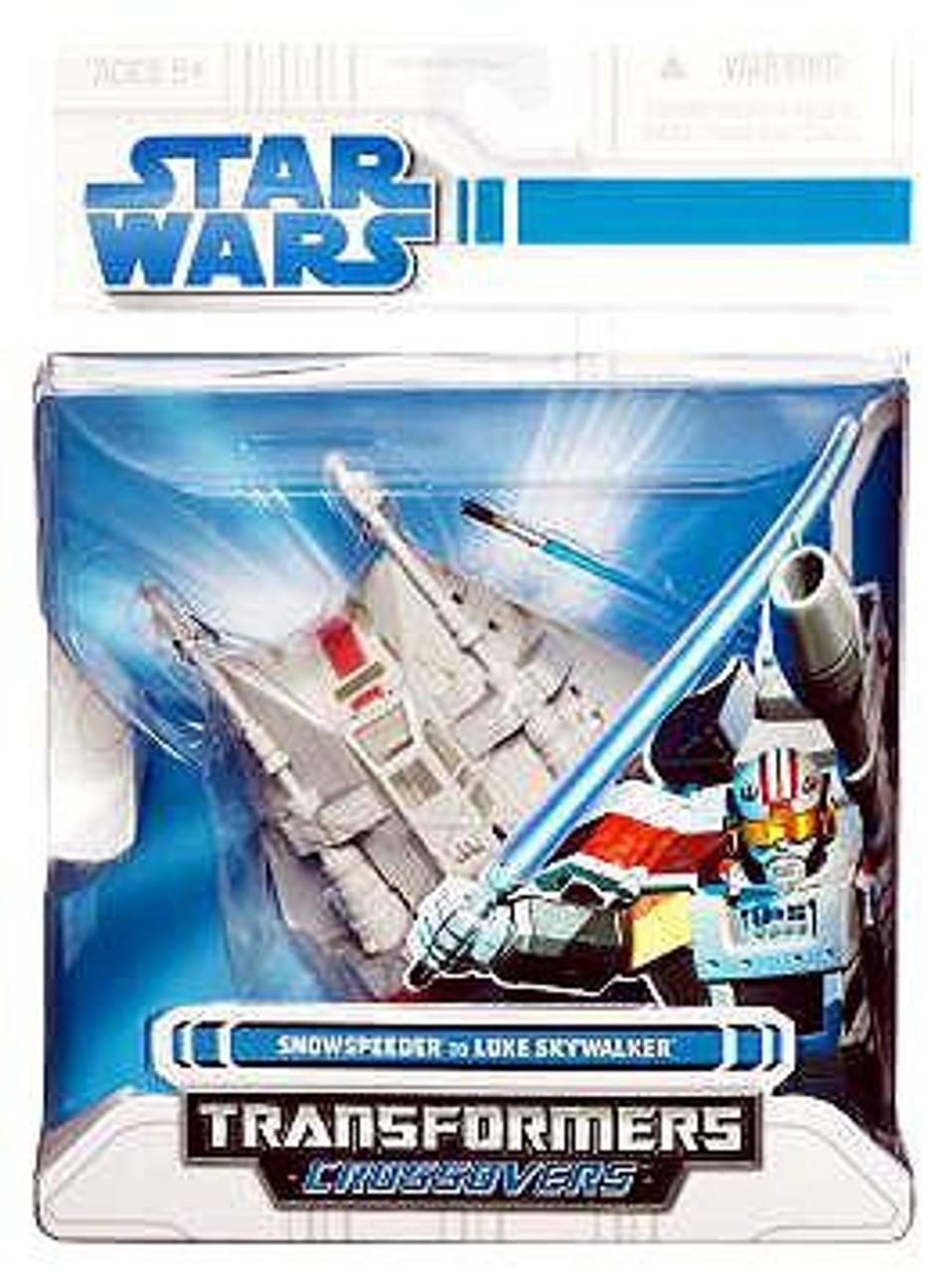 Star Wars Empire Strikes Back Transformers Crossovers 2008 Snowspeeder to Luke Skywalker Action Figure
