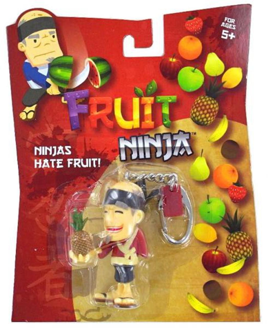Fruit Ninja Blade Slice Pineapple Sensei Keychain