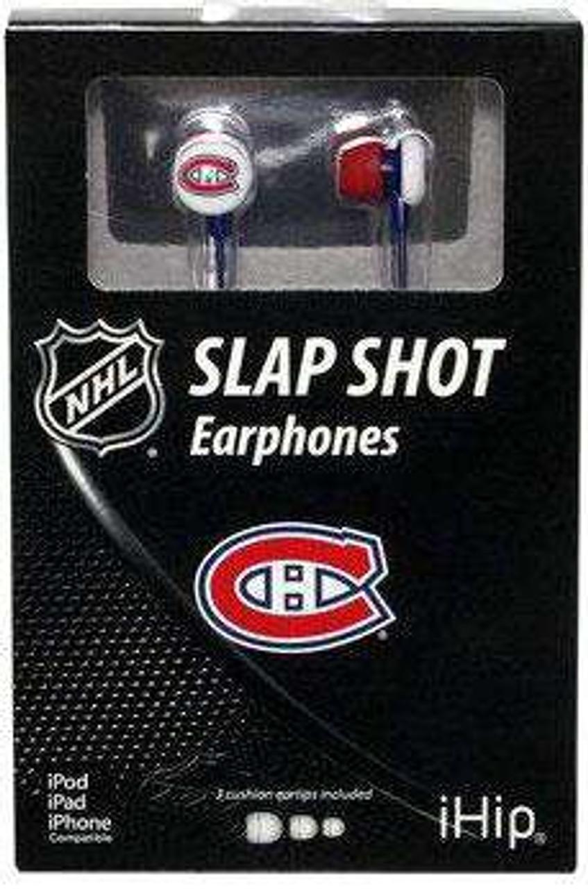 NFL Slap Shot Earphones Montreal Canadiens Earbuds