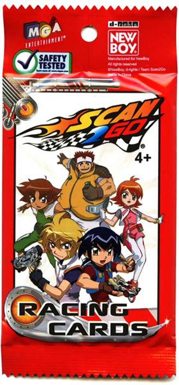 Scan 2 Go Racing Cards Booster Pack
