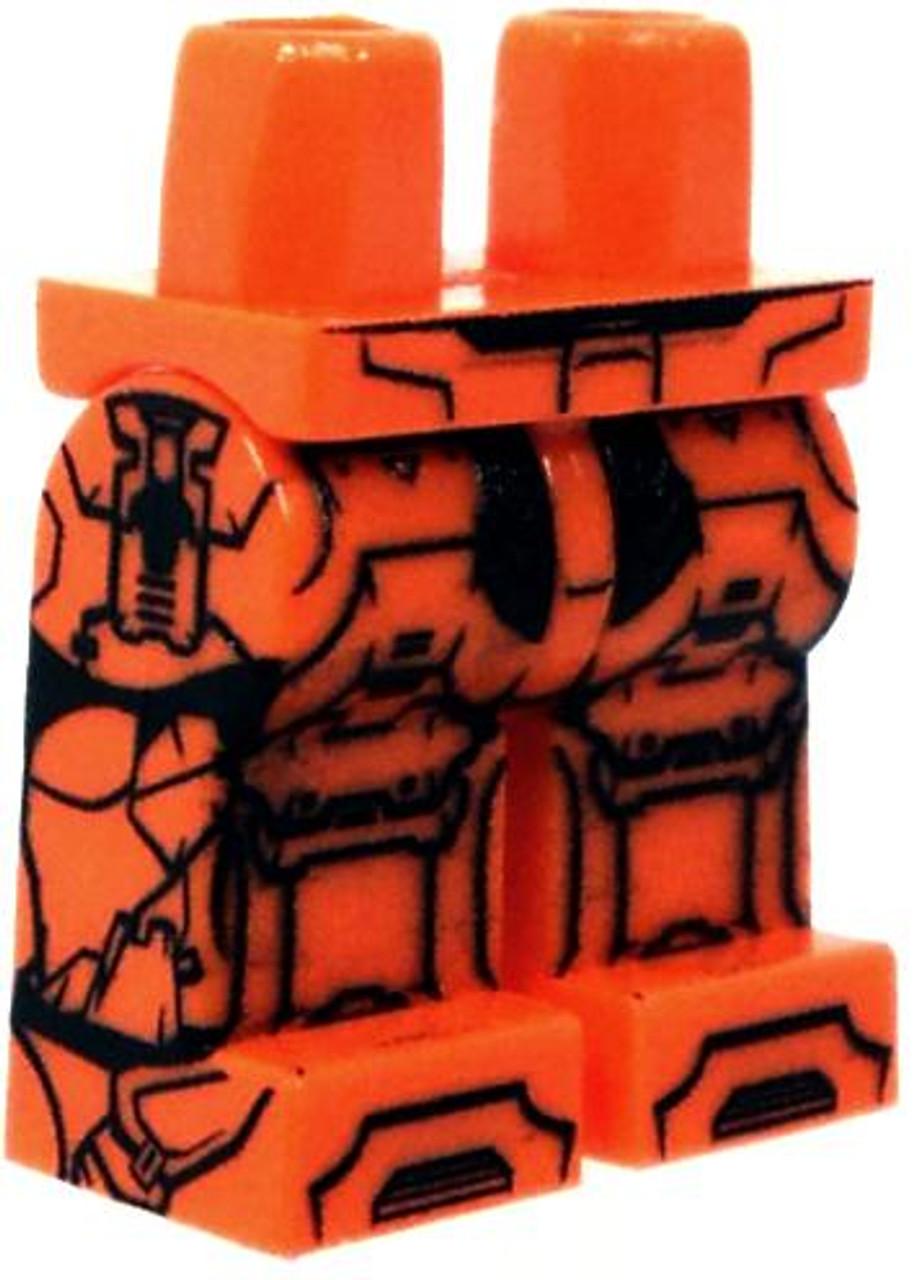 Eclipse Grafx Custom Printed Minifigure Parts Space Assault Loose Legs [Orange Loose]