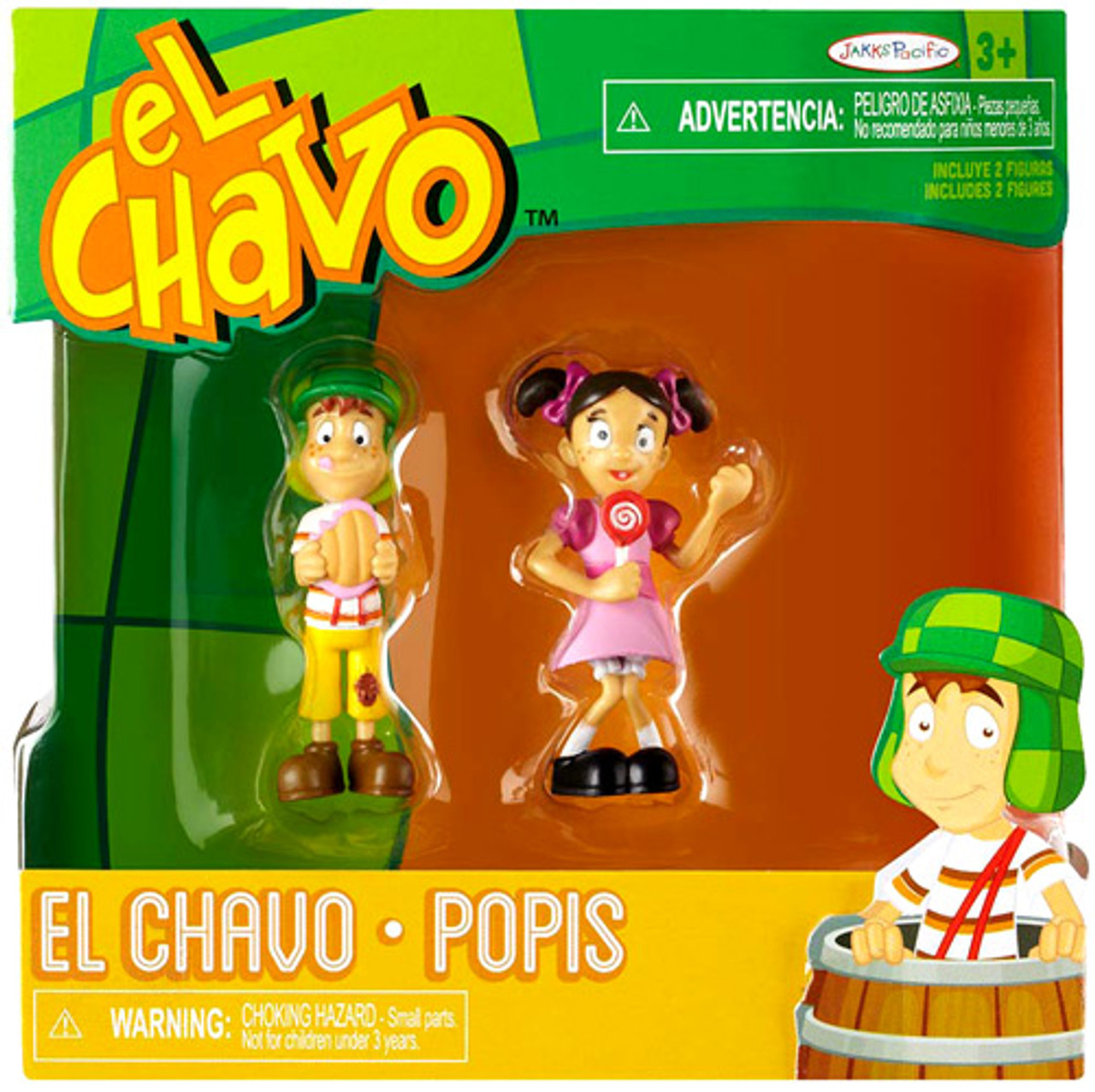 El Chavo & Popis 2.75-Inch Figure 2-Pack