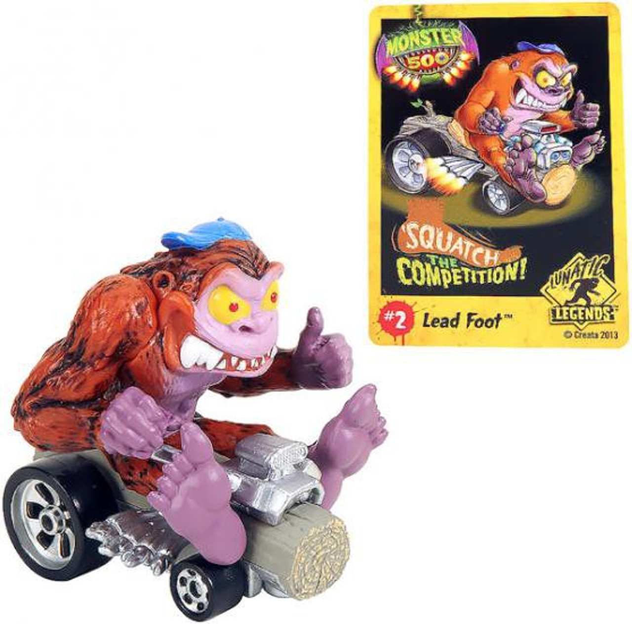 Monster 500 Small Car Lead Foot Vehicle Figure