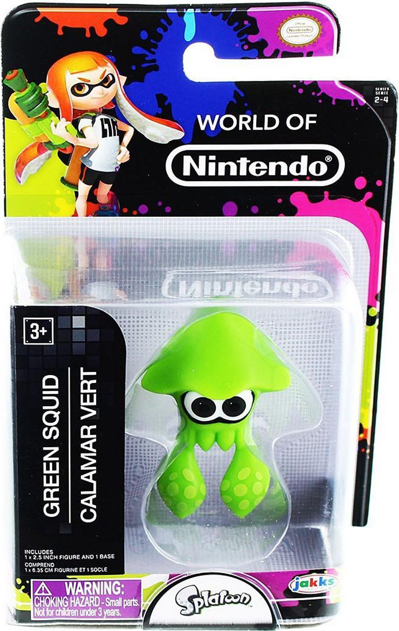 World Of Nintendo Splatoon Green Squid 25 Inch Mini Figure