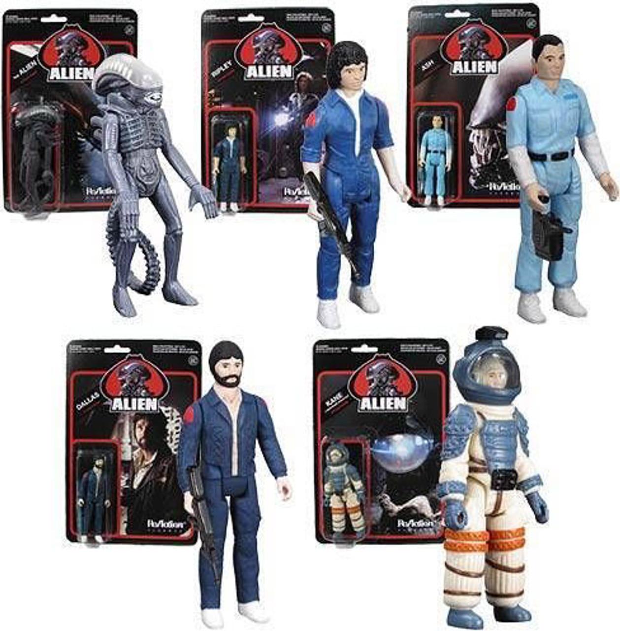 Funko Super 7 ReAction Ripley, Dallas, Kane, Ash & Alien Action Figure 5-Pack