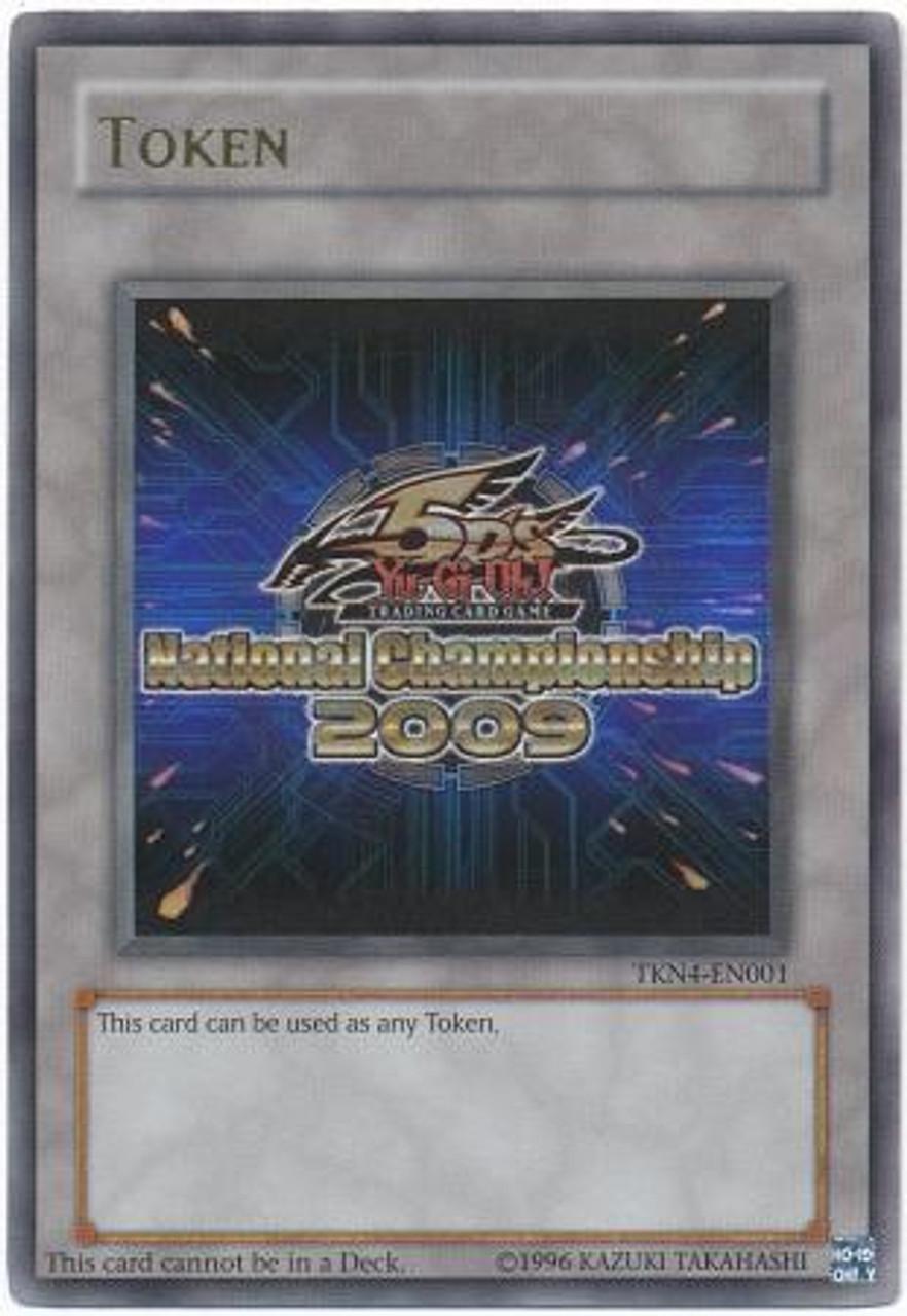 YuGiOh 5D's Promo Token Cards Ultra Rare 5D's 2009 National Championship Token TKN4-EN001