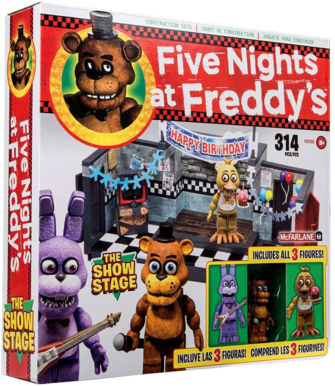 Mcfarlane toys five nights at freddy s show stage exclusive