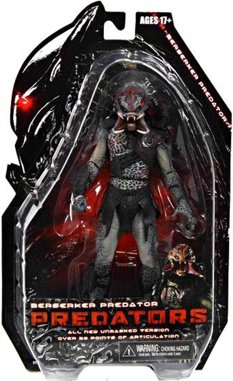 NECA Predators Series 2 Berserker Predator Action Figure [Unmasked, Loose]