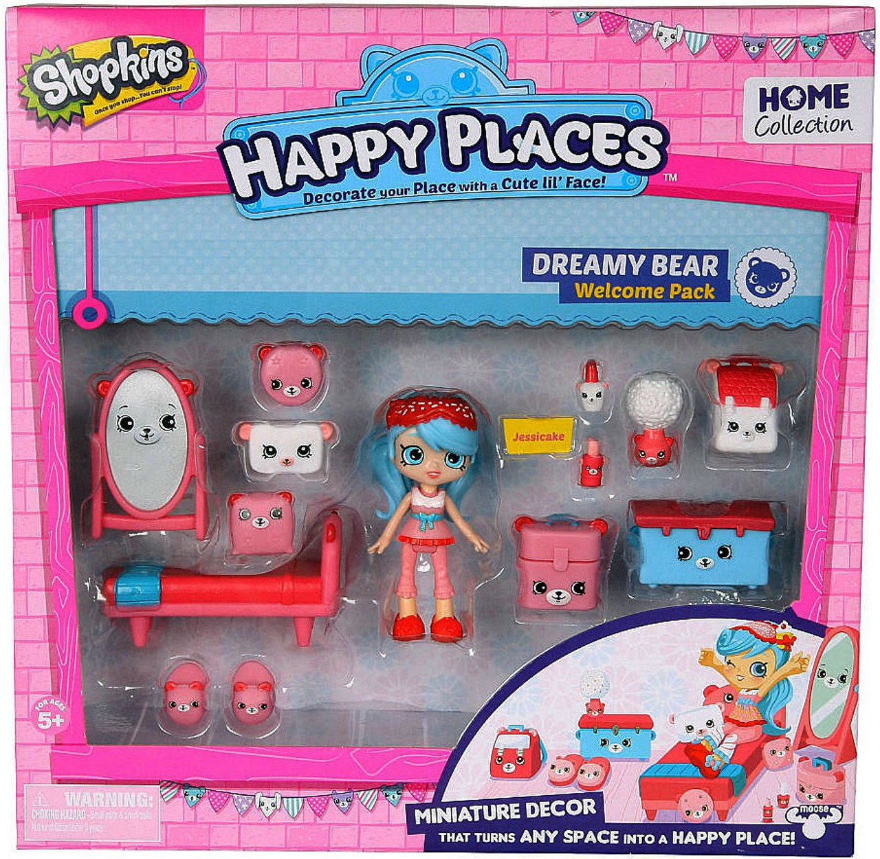 Shopkins Happy Places Home Collection Dreamy Bear Welcome Pack Jessica...