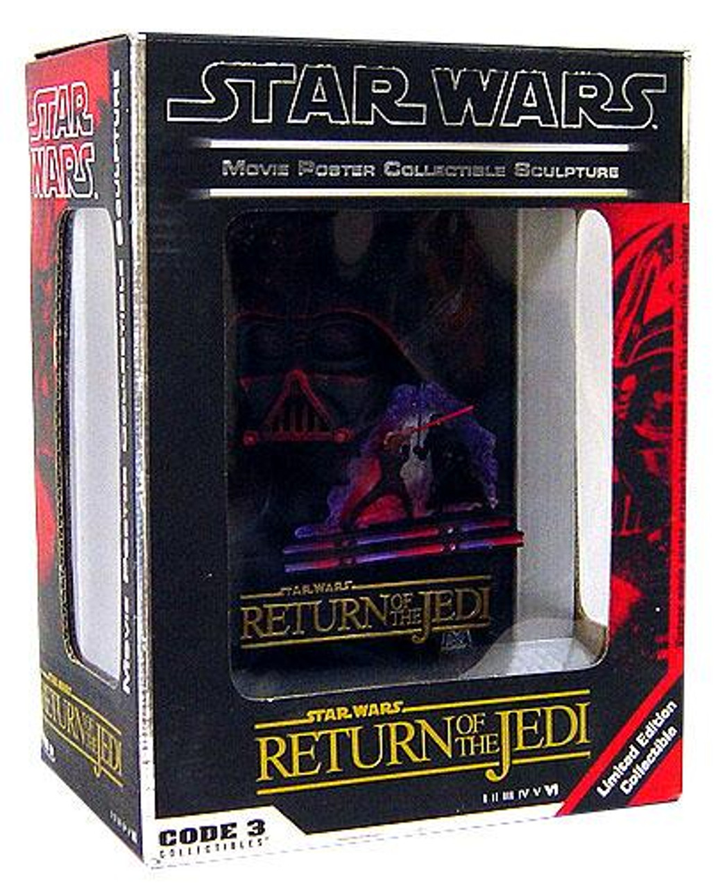 Star Wars 3-D Movie Poster Sculptures Return of the Jedi 3-D Movie Poster Sculpture