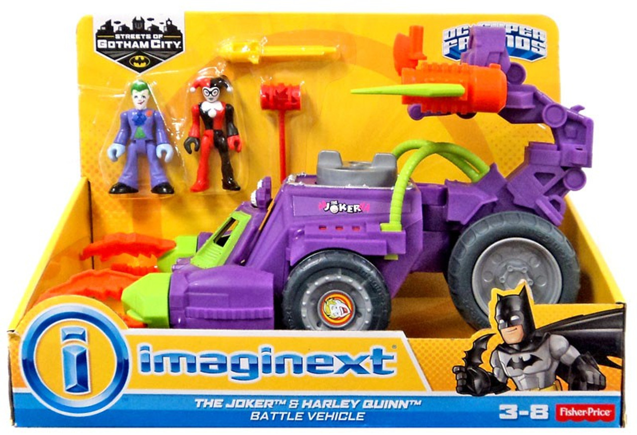 imaginext helicopter batman with Fisher Price Dc Super Friends Imaginext Joker Harley Quinn Battle Vehicle Figure Set on Imaginext DisneyPixar IMonsters UniversityI Scare Factory in addition 22672 besides 34 also Vtech Go Go Smart Wheels Green Race Car besides Lego Dc Universe Super Heroes The Bat Vs Bane Tumbler Chase 76001 Revealed.