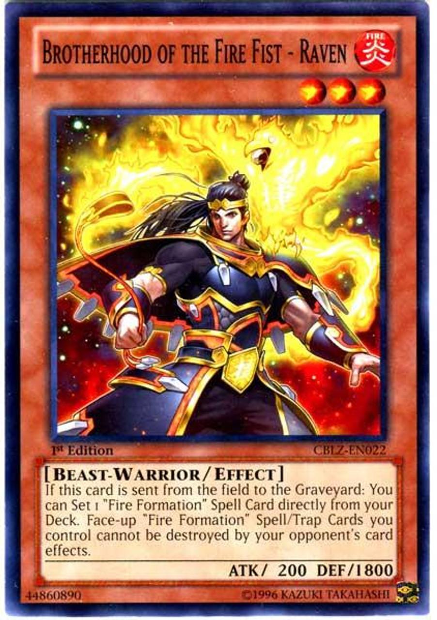 YuGiOh Zexal Cosmo Blazer Common Brotherhood of the Fire Fist - Raven CBLZ-EN022