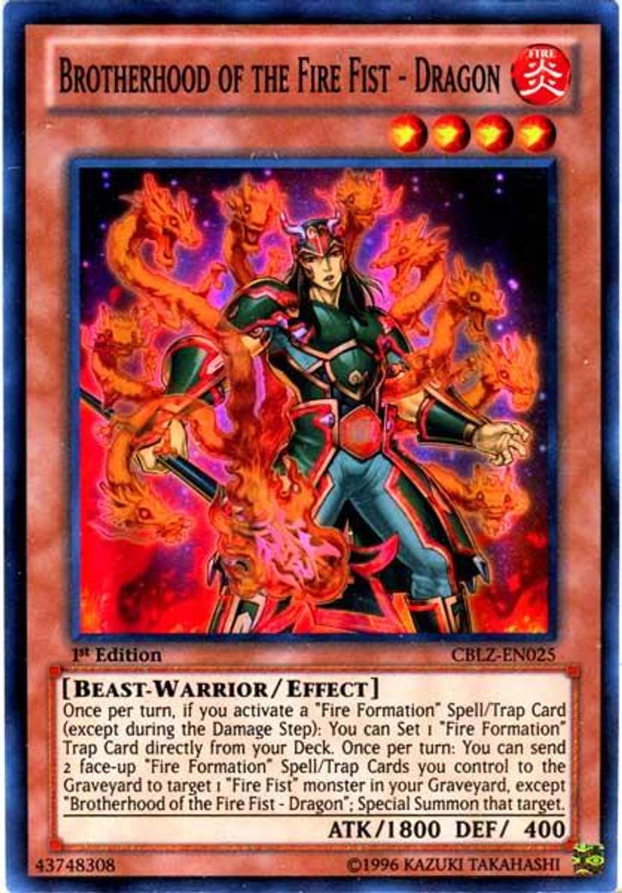 YuGiOh Zexal Cosmo Blazer Super Rare Brotherhood of the Fire Fist - Dragon CBLZ-EN025