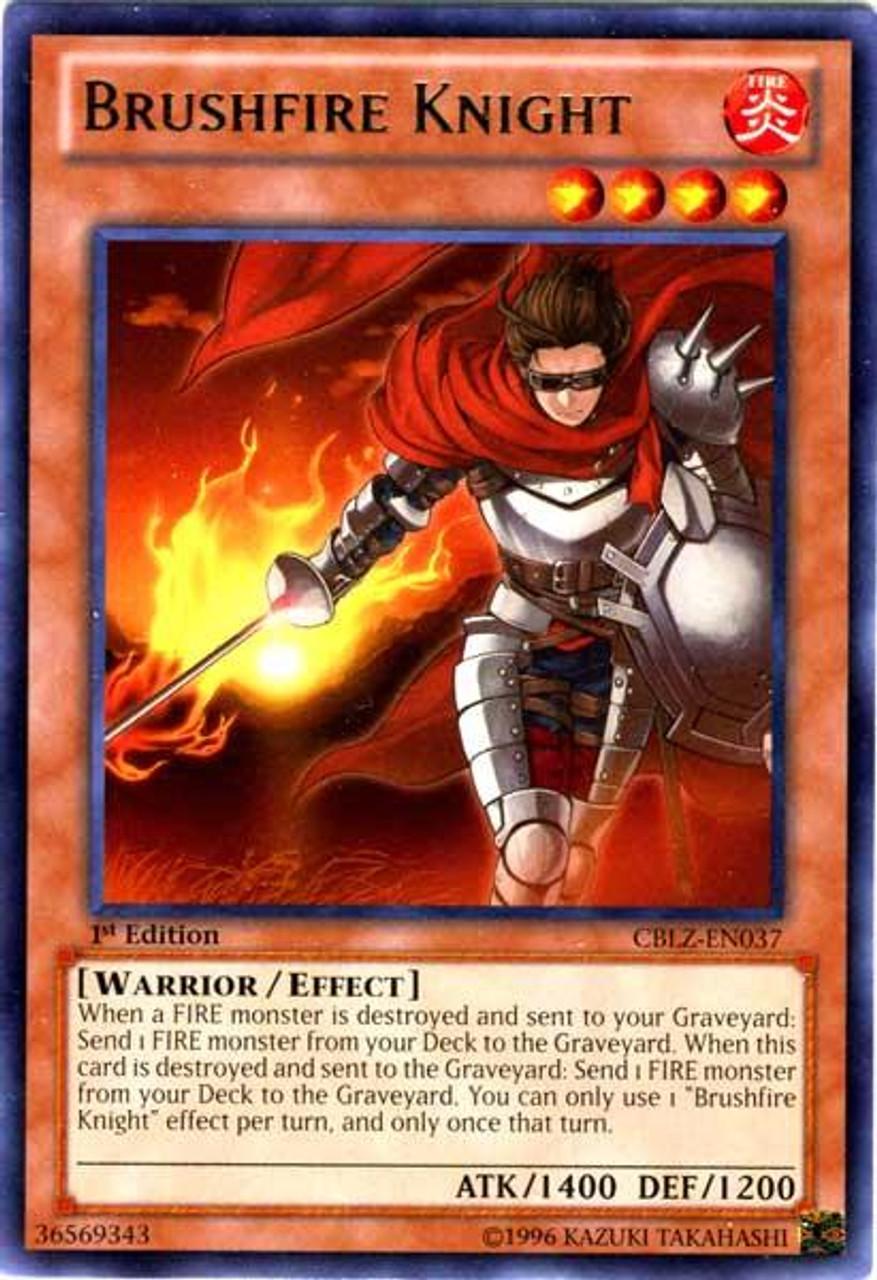 YuGiOh Zexal Cosmo Blazer Rare Brushfire Knight CBLZ-EN037
