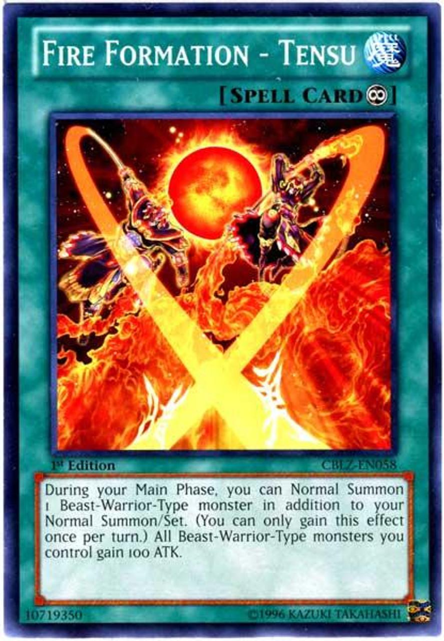 YuGiOh Zexal Cosmo Blazer Common Fire Formation - Tensu CBLZ-EN058