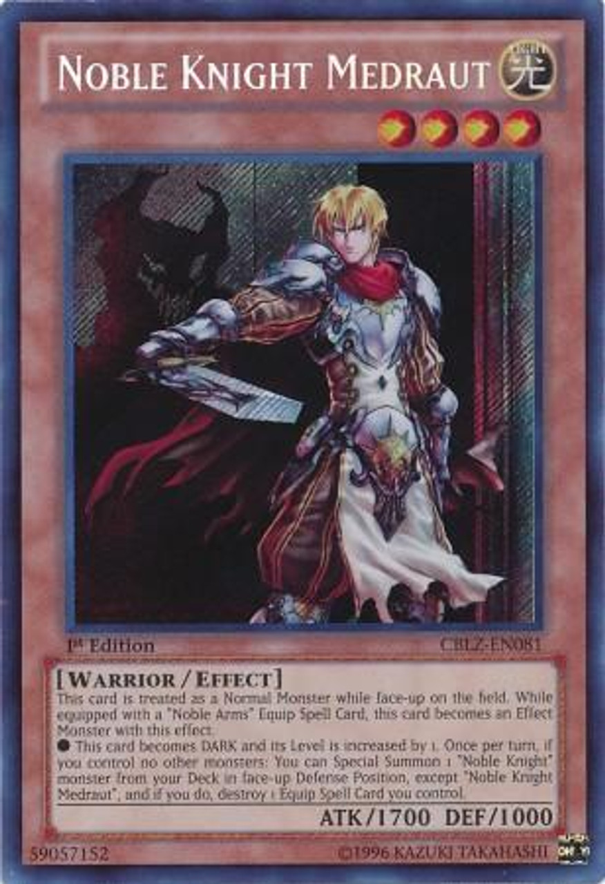 YuGiOh Zexal Cosmo Blazer Secret Rare Noble Knight Medraut CBLZ-EN081