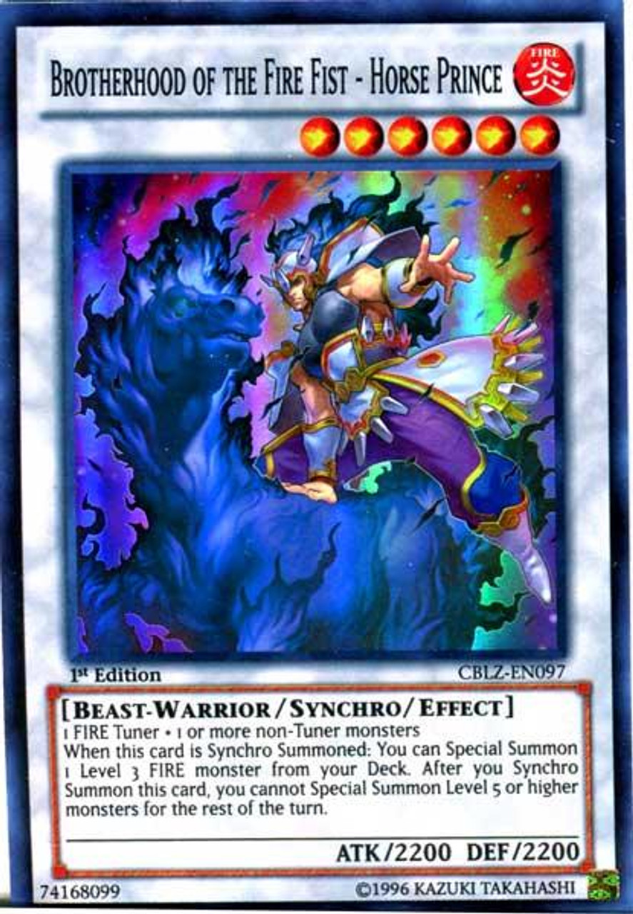 YuGiOh Zexal Cosmo Blazer Super Rare Brotherhood of the Fire Fist - Horse Prince CBLZ-EN097