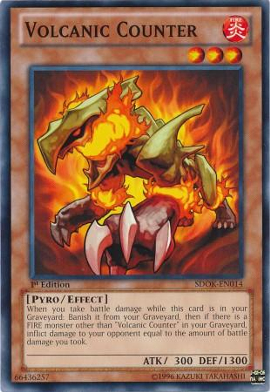 YuGiOh Structure Deck: Onslaught of the Fire Kings Common Volcanic Counter SDOK-EN014