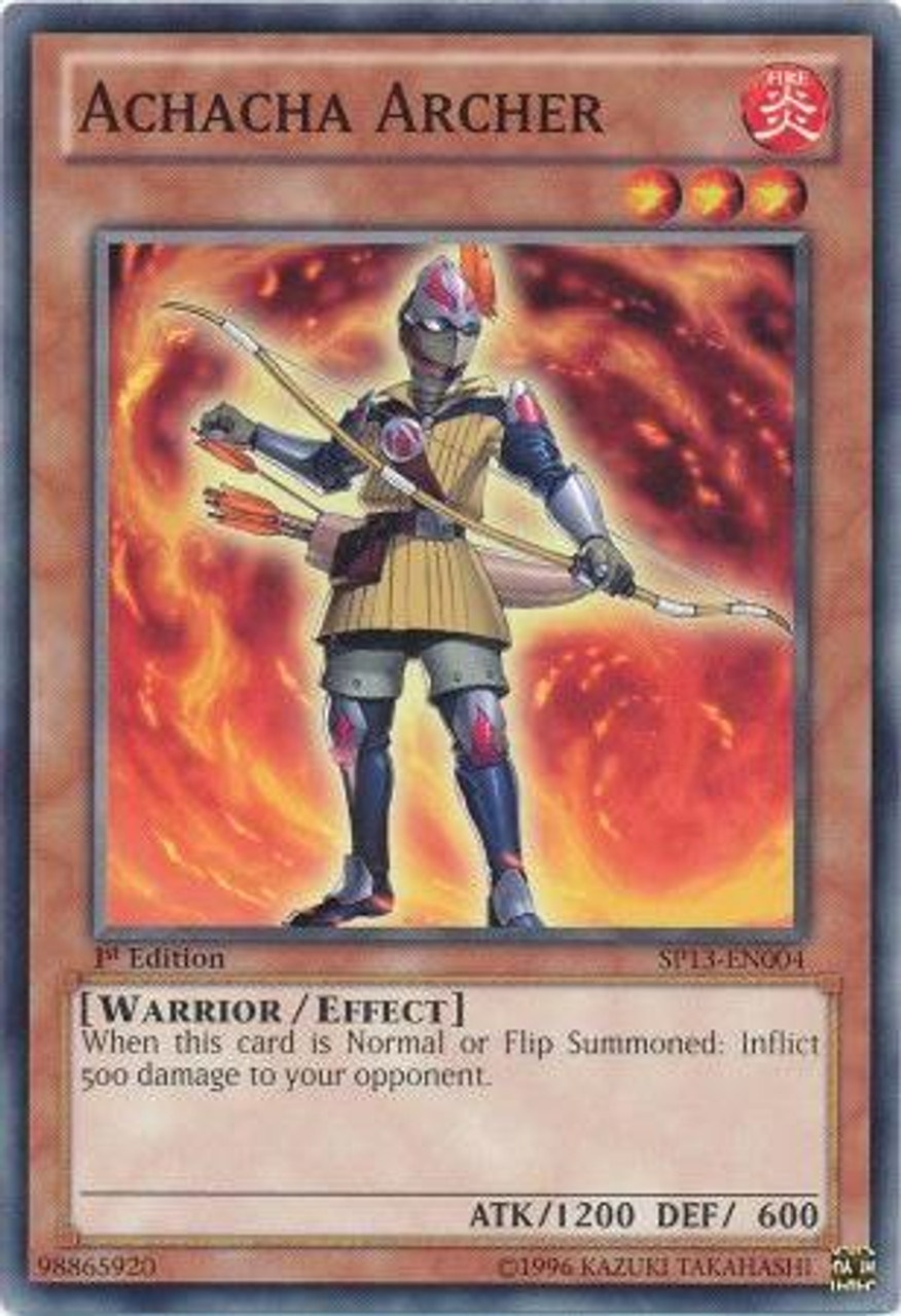 YuGiOh Star Pack 2013 Common Achacha Archer SP13-EN004