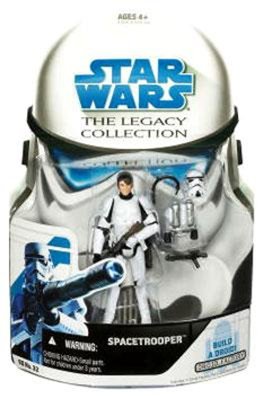 Star Wars The Clone Wars Legacy Collection 2008 Droid Factory Spacetrooper Action Figure BD32