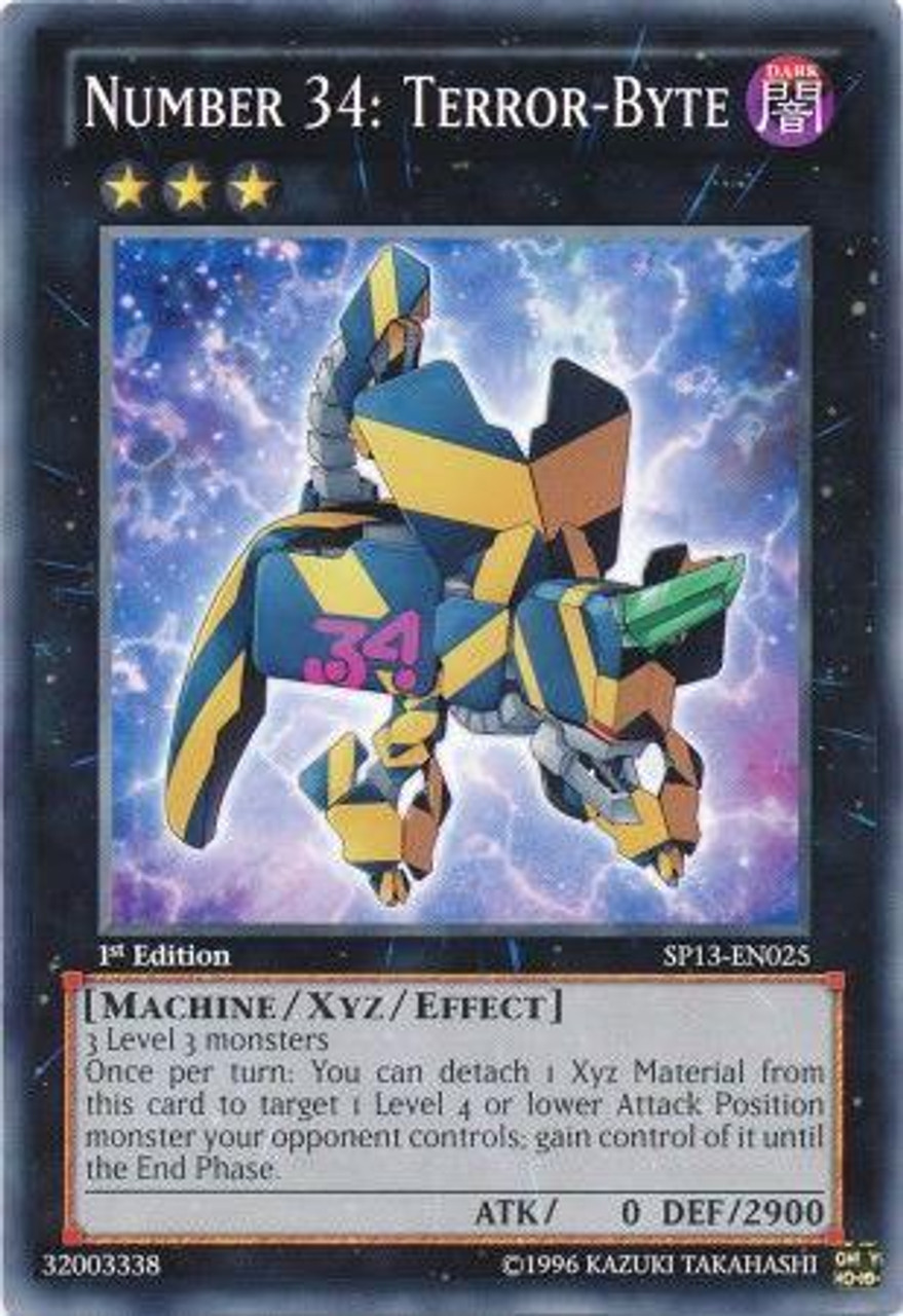 YuGiOh Star Pack 2013 Common Number 34: Terror-Byte SP13-EN025