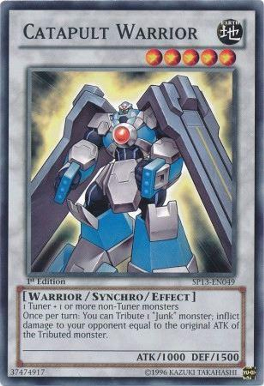 YuGiOh Star Pack 2013 Common Catapult Warrior SP13-EN049