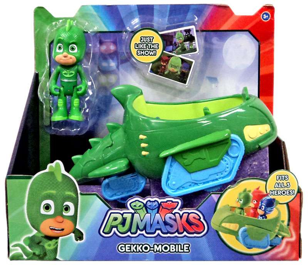 disney junior pj masks gekko mobile vehicle figure just play toywiz. Black Bedroom Furniture Sets. Home Design Ideas