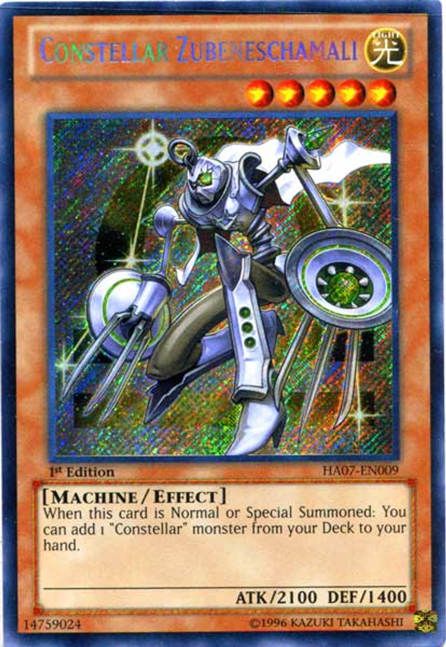 YuGiOh Zexal Hidden Arsenal 7: Knight of Stars Secret Rare Constellar Zubeneschamali HA07-EN009