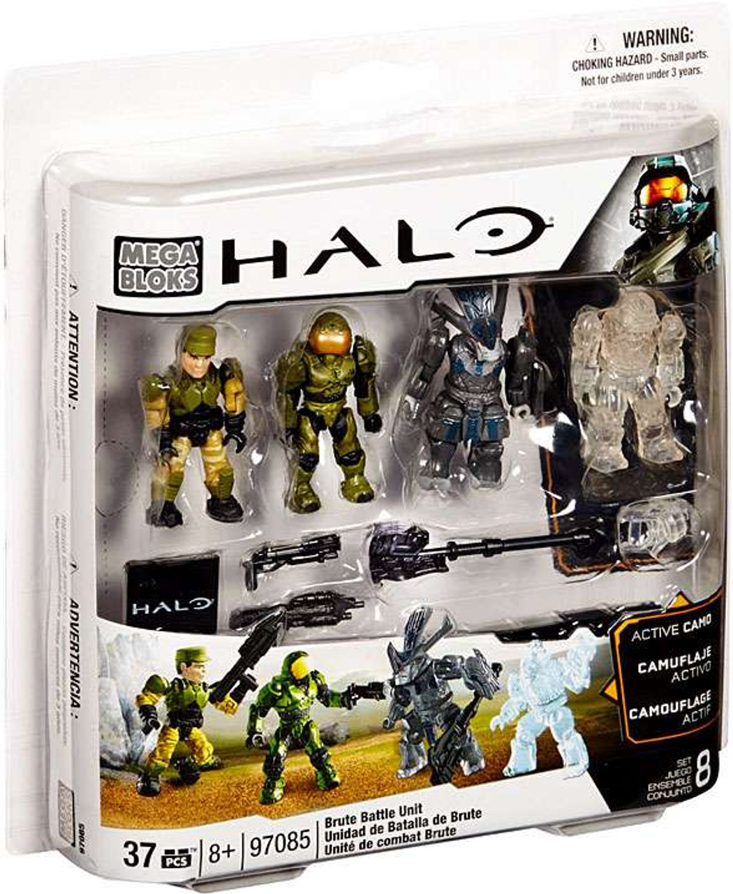 Mega Bloks Halo Brute Battle Pack Set #97085 [Damaged Package]