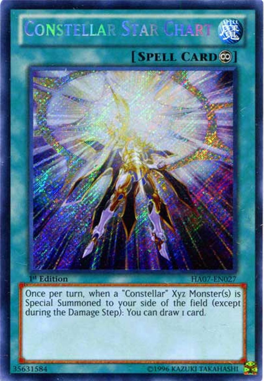 YuGiOh Zexal Hidden Arsenal 7: Knight of Stars Secret Rare Constellar Star Chart HA07-EN027