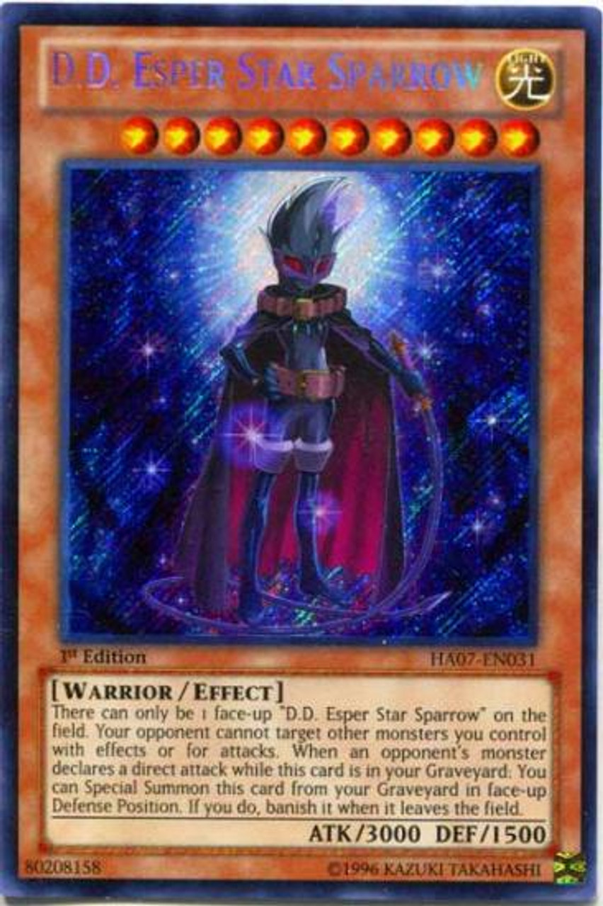 YuGiOh Zexal Hidden Arsenal 7: Knight of Stars Secret Rare D.D. Esper Star Sparrow HA07-EN031