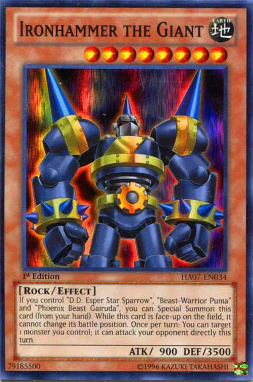YuGiOh Zexal Hidden Arsenal 7: Knight of Stars Super Rare Ironhammer the Giant HA07-EN034