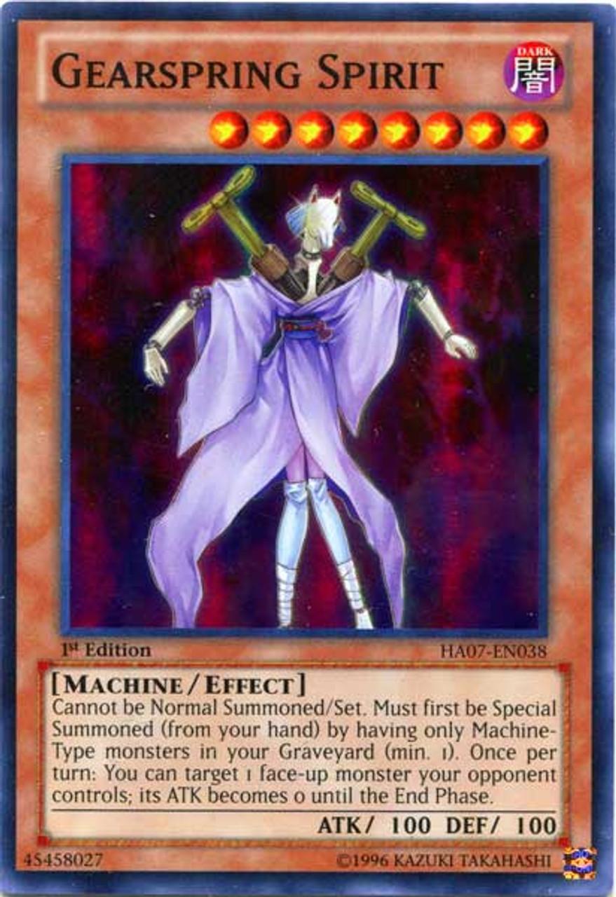 YuGiOh Zexal Hidden Arsenal 7: Knight of Stars Super Rare Gearspring Spirit HA07-EN038