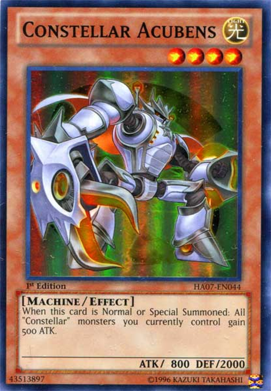 YuGiOh Zexal Hidden Arsenal 7: Knight of Stars Super Rare Constellar Acubens HA07-EN044