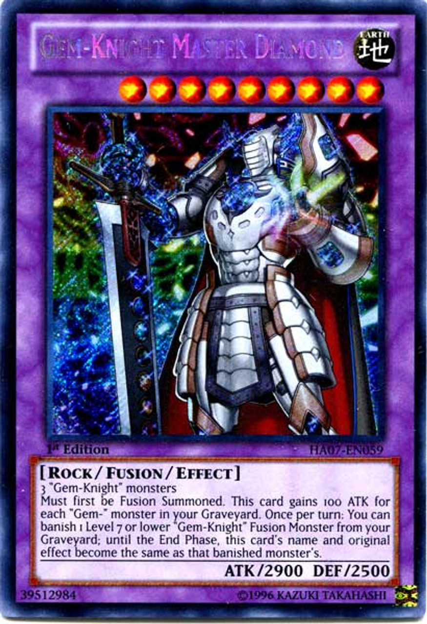 YuGiOh Zexal Hidden Arsenal 7: Knight of Stars Secret Rare Gem-Knight Master Diamond HA07-EN059