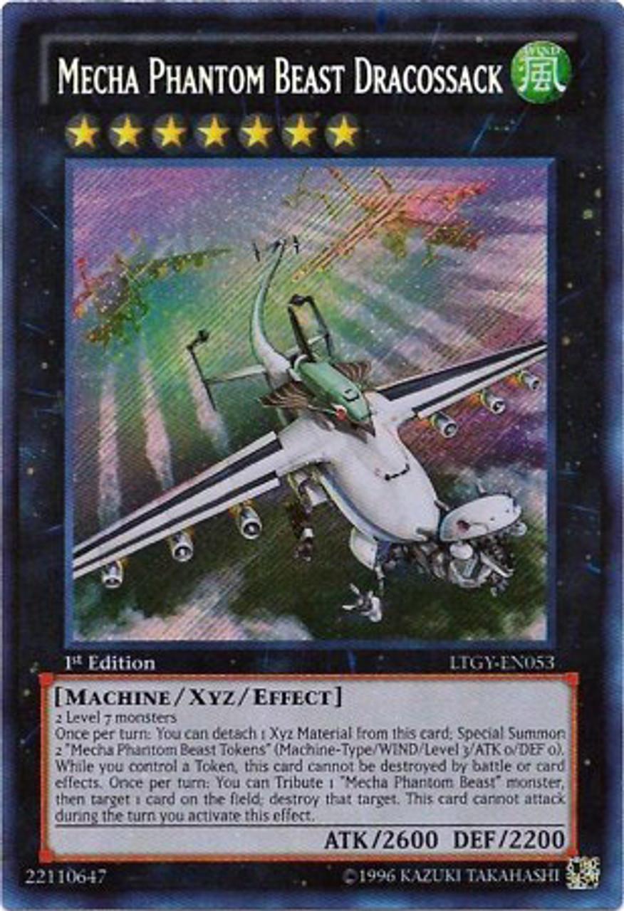 YuGiOh Zexal Lord of the Tachyon Galaxy Secret Rare Mecha Phantom Beast Dracossack LTGY-EN053