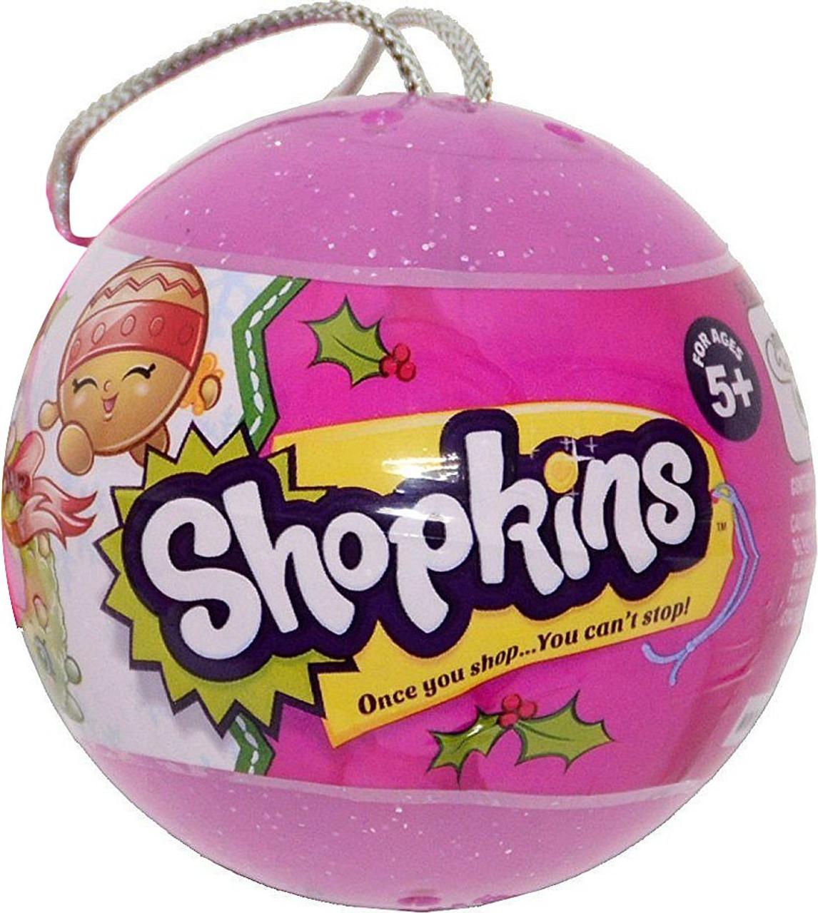 Shopkins 2016 Christmas Bauble Ornament 2 Surprise Shopkins Clear ...